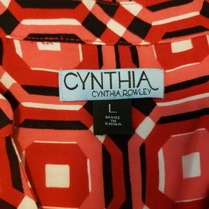 Cynthia Rowley Tops - Long Sleeve Button Front V-Neck Blouse